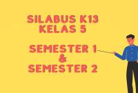 Silabus K13 Kelas 5