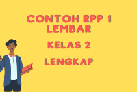 Contoh RPP 1 Lembar Kelas 2 daring