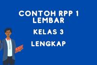 Contoh RPP 1 Lembar Kelas 3 daring