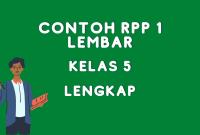 Contoh RPP 1 Lembar Kelas 5 Daring