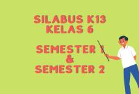 Silabus K13 Kelas 6